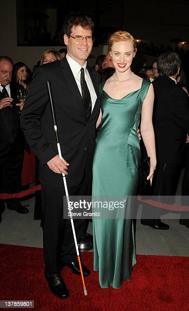 Actress Deborah Ann Woll and EJ Scott arrive at the 64th Annual Directors Guild Of America Awards at the Grand Ballroom at Hollywood Highland Center...