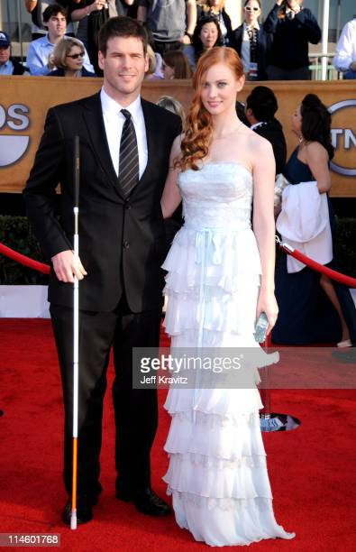 Actress Deborah Ann Woll and EJ Scott arrive to the 16th Annual Screen Actors Guild Awards held at The Shrine Auditorium on January 23 2010 in Los...