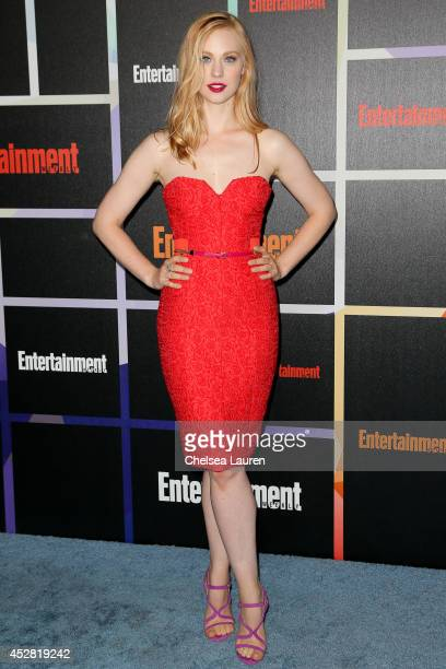 Actress Deborah Ann Woll arrives at Entertainment Weekly's Annual Comic Con Celebration at Float at Hard Rock Hotel San Diego on July 26 2014 in San...