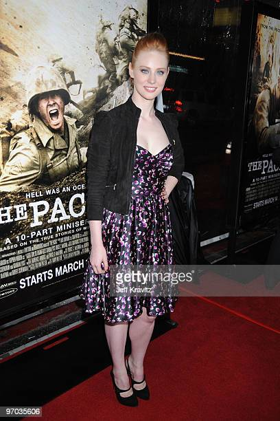 "Actress Deborah Ann Woll arrives at HBO's premiere of ""The Pacific"" held at Grauman's Chinese Theatre on February 24, 2010 in Hollywood, California."