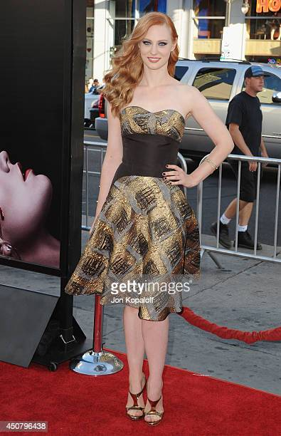 "Actress Deborah Ann Woll arrives at HBO's ""True Blood"" Final Season Premiere at TCL Chinese Theatre on June 17, 2014 in Hollywood, California."