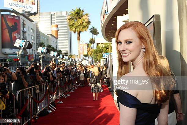 "Actress Deborah Ann Woll arrives at HBO's ""True Blood"" Season 3 premiere held at ArcLight Cinemas Cinerama Dome on June 8, 2010 in Hollywood,..."