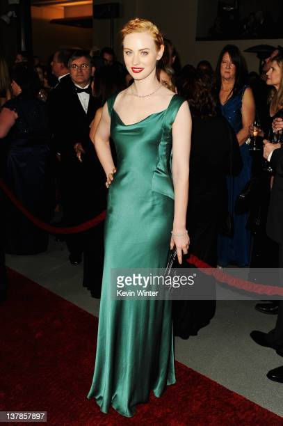 Actress Deborah Ann Woll arrives at the 64th Annual Directors Guild Of America Awards held at the Grand Ballroom at Hollywood Highland on January 28...