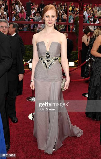 Actress Deborah Ann Woll arrives at the 82nd Annual Academy Awards held at Kodak Theatre on March 7 2010 in Hollywood California