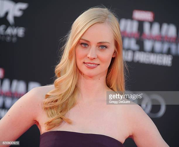 Actress Deborah Ann Woll arrives at the premiere of Marvel's Captain America Civil War on April 12 2016 in Hollywood California
