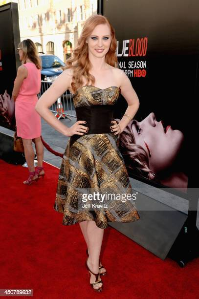 Actress Deborah Ann Woll attends HBO 'True Blood' season 7 premiere at TCL Chinese Theatre on June 17 2014 in Hollywood California