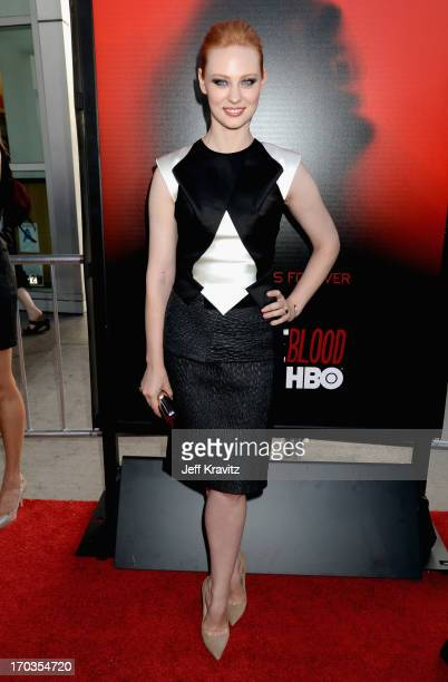 Actress Deborah Ann Woll attends HBO's True Blood season 6 premiere at ArcLight Cinemas Cinerama Dome on June 11 2013 in Hollywood California