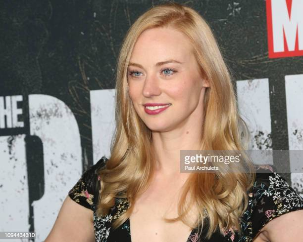 Actress Deborah Ann Woll attends Marvel's The Punisher Los Angeles premiere at the ArcLight Hollywood on January 14 2019 in Hollywood California