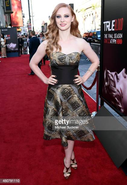 Actress Deborah Ann Woll attends Premiere Of HBO's 'True Blood' Season 7 And Final Season at TCL Chinese Theatre on June 17 2014 in Hollywood...