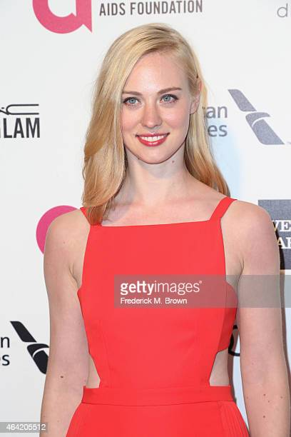 Actress Deborah Ann Woll attends the 23rd Annual Elton John AIDS Foundation's Oscar Viewing Party on February 22, 2015 in West Hollywood, California.