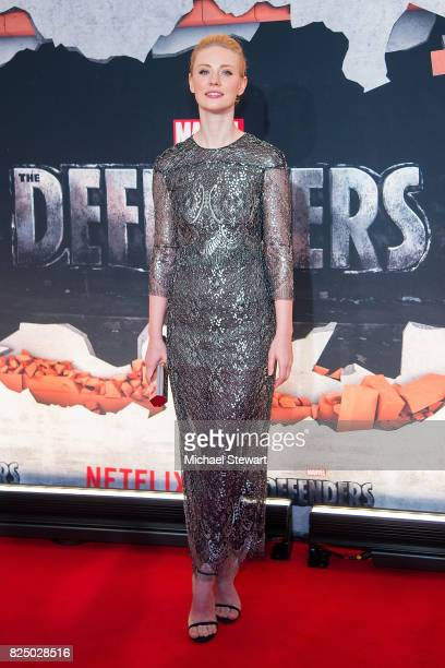 Actress Deborah Ann Woll attends the 'Marvel's The Defenders' New York premiere at Tribeca Performing Arts Center on July 31, 2017 in New York City.