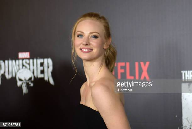 "Actress Deborah Ann Woll attends the ""Marvel's The Punisher"" New York Premiere on November 6, 2017 in New York City."