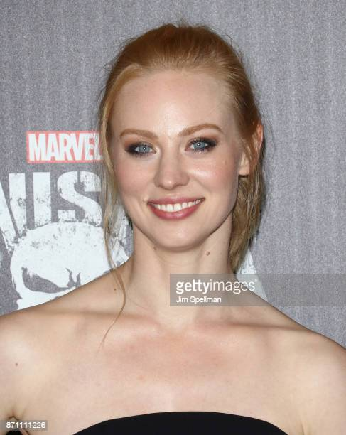 Actress Deborah Ann Woll attends the 'Marvel's The Punisher' New York premiere at AMC Loews 34th Street 14 theater on November 6 2017 in New York City