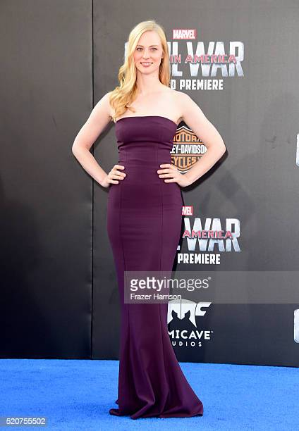 Actress Deborah Ann Woll attends the premiere of Marvel's 'Captain America Civil War' at Dolby Theatre on April 12 2016 in Los Angeles California