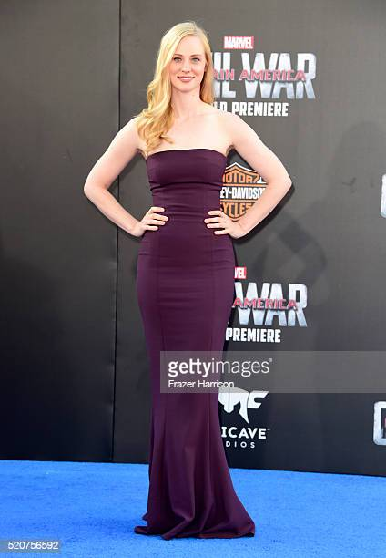 Actress Deborah Ann Woll attends the premiere of Marvel's Captain America Civil War at Dolby Theatre on April 12 2016 in Los Angeles California