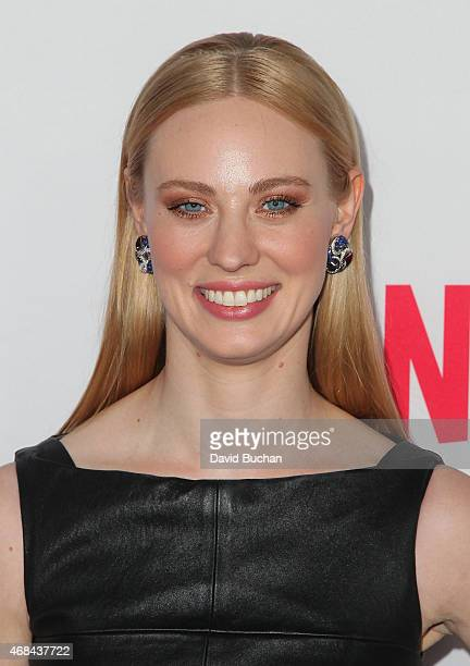Actress Deborah Ann Woll attends the premiere of Netflix's 'Marvel's Daredevil' at Regal Cinemas LA Live on April 2 2015 in Los Angeles California