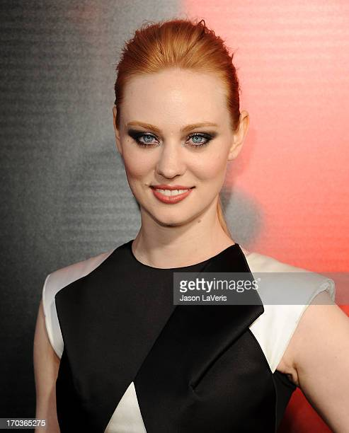"Actress Deborah Ann Woll attends the season 6 premiere of HBO's ""True Blood"" at ArcLight Cinemas Cinerama Dome on June 11, 2013 in Hollywood,..."