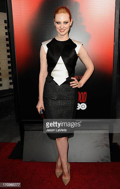 Actress Deborah Ann Woll attends the season 6 premiere of HBO's 'True Blood' at ArcLight Cinemas Cinerama Dome on June 11 2013 in Hollywood California