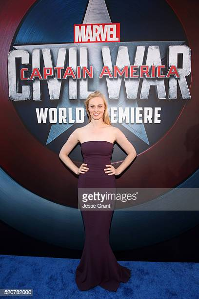 Actress Deborah Ann Woll attends The World Premiere of Marvel's Captain America Civil War at Dolby Theatre on April 12 2016 in Los Angeles California