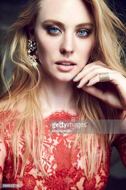 Actress Deborah Ann Woll is photographed for Glow Magazine on April 15 2015 in Toronto Ontario Published Image