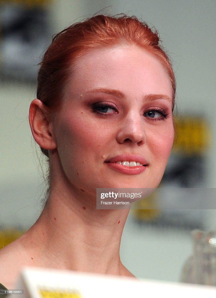 Actress Deborah Ann Woll speaks at HBO's 'True Blood' Panel during Comic-Con 2011 and the San Diego Convention Center on July 22, 2011 in San Diego, California.