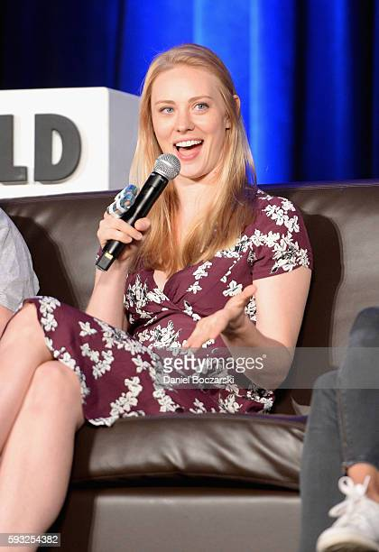 Actress Deborah Ann Woll speaks onstage during Wizard World Comic Con Chicago 2016 Day 4 at Donald E Stephens Convention Center on August 21 2016 in...