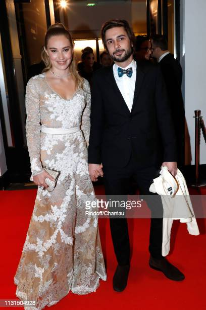 Actress Deborah Francois and her companion Victor attend the Cesar Film Awards 2019 at Salle Pleyel on February 22 2019 in Paris France