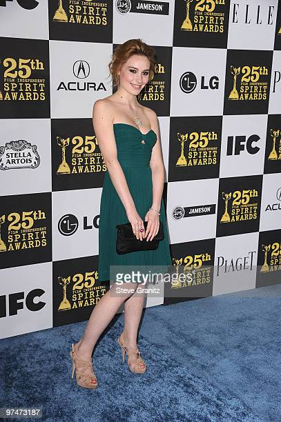 Actress Deborah Francois arrives at the 25th Film Independent Spirit Awards held at Nokia Theatre LA Live on March 5 2010 in Los Angeles California