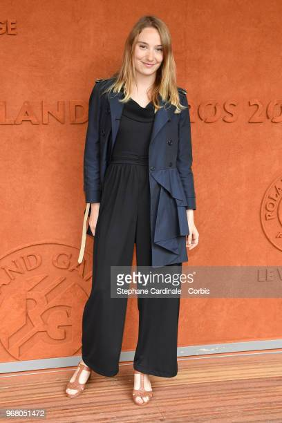 Actress Deborah Francois attends the 2018 French Open Day Ten at Roland Garros on June 5 2018 in Paris France