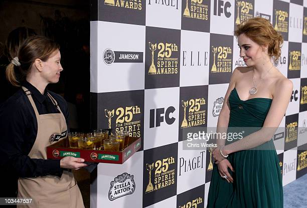 Actress Deborah Francois attends the 25th Independent Spirit Awards Hosted By Jameson Irish Whiskey held at Nokia Theatre LA Live on March 5 2010 in...