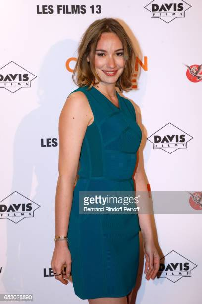 Actress Deborah Francois attends the 'Chacun sa vie' Paris Premiere at Cinema UGC Normandie on March 13 2017 in Paris France