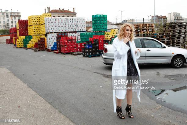 Actress Deborah Francois is photographed for Madame Figaro on April 5 2011 in IvrysurSeine France Published image Figaro ID 100351016 Dress and shoes...