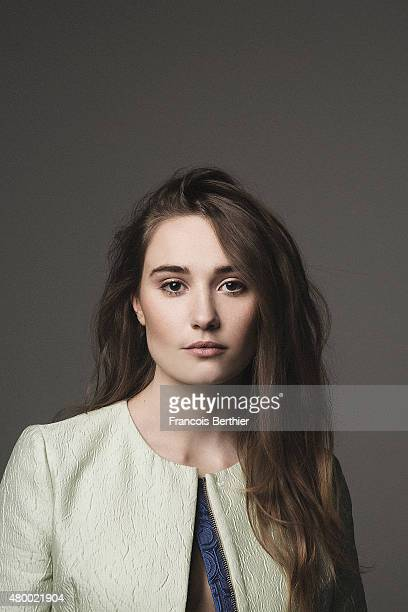 Actress Deborah Francois is photographed for Self Assignment on March 16 2015 in Paris France