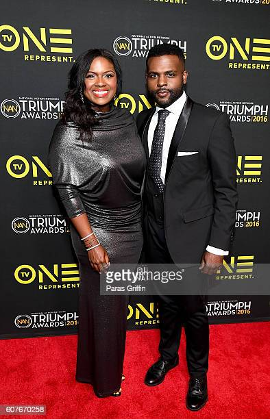 Actress Deborah Joy Winans and singer Juan Winans attends 2016 Triumph Awards presented by National Action Network and TV One at The Tabernacle on...
