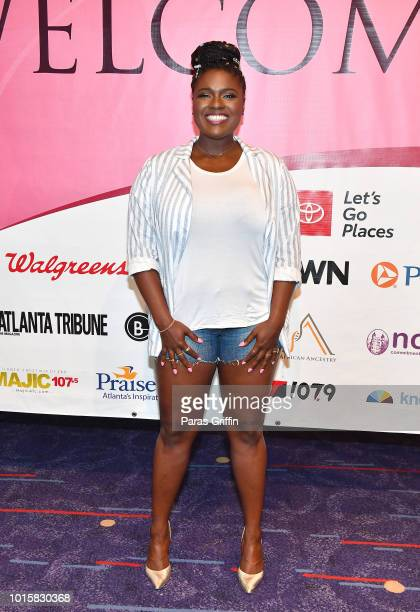 Actress Deborah Joy Winans attends 2018 Black Women's Expo at Georgia International Convention Center on August 12 2018 in College Park Georgia