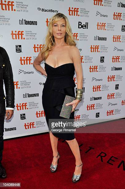 Actress Deborah Kara Unger attends Barney's Version Premiere during the 35th Toronto International Film Festival at Roy Thomson Hall on September 12...