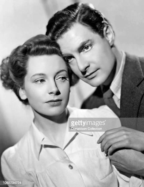 """Actress Deborah Kerr and Robert Donat in a scene from the movie """"Vacation from Marriage"""""""