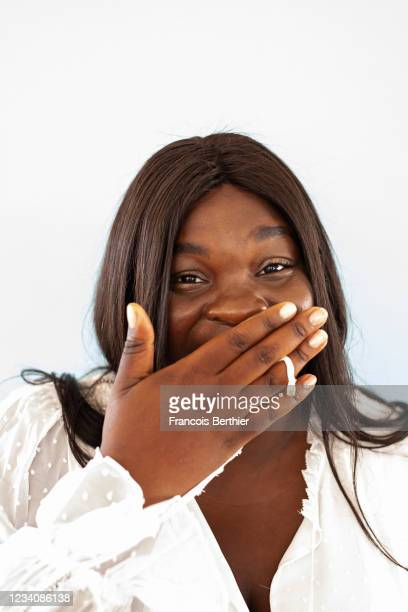 Actress Deborah Lukumuena poses for a portrait during the 74th Cannes International Film Festival, on July 15, 2021 in Cannes, France.