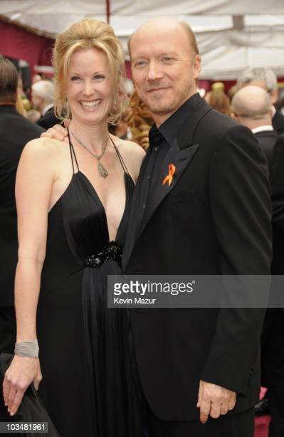Actress Deborah Rennard and writerdirector Paul Haggis arrive at the 80th Annual Academy Awards at the Kodak Theatre on February 24 2008 in Hollywood