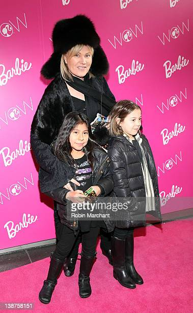 Actress Deborra Lee Furness and daughter Ava Jackman visits Barbie's Dream Closet in Lincoln Center at the David Rubenstein Atrium on February 11...