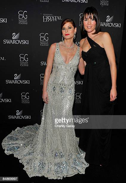 Actress Debra Messing and Costume Designer Tanya Gill backstage during the 11th annual Costume Designers Guild Awards held at the Four Seasons...