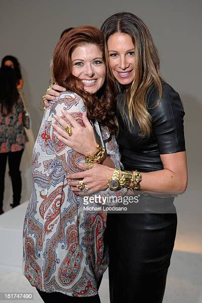 Actress Debra Messing and Jewelry Designer Jennifer Fisher pose at the Jennifer Fisher Spring 2013 Presentation during MercedesBenz Fashion Week at...