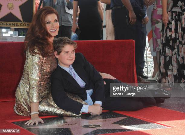 Actress Debra Messing and son Roman Walker Zelman attend Debra Messing Star Ceremony on The Hollywood Walk Of Fame held on October 6 2017 in...