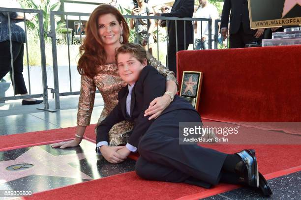 Actress Debra Messing and son Roman Walker Zelman attend the ceremony honoring Debra Messing with star on the Hollywood Walk of Fame on October 6...