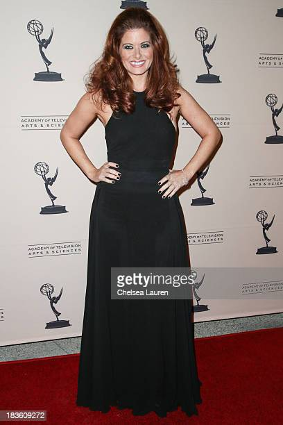 Actress Debra Messing arrives at 'An Evening Honoring James Burrows' at Academy of Television Arts Sciences on October 7 2013 in North Hollywood...