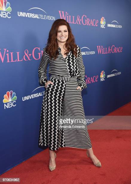 Actress Debra Messing arrives at NBC's Will Grace FYC Event at the Harmony Gold Theatre on June 9 2018 in Los Angeles California