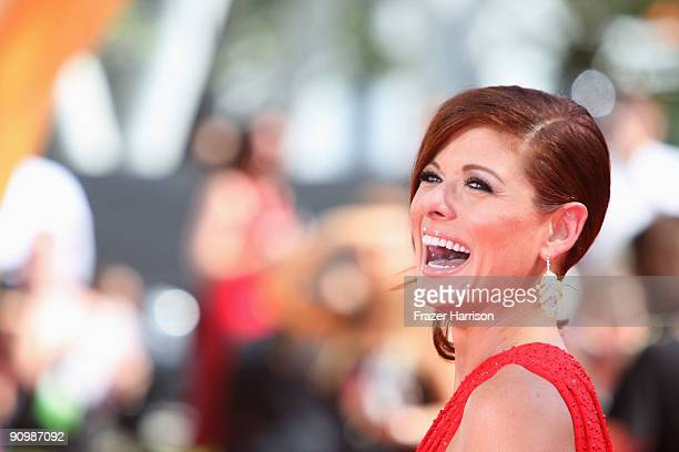 Actress Debra Messing arrives at the 61st Primetime Emmy Awards held at the Nokia Theatre on September 20 2009 in Los Angeles California