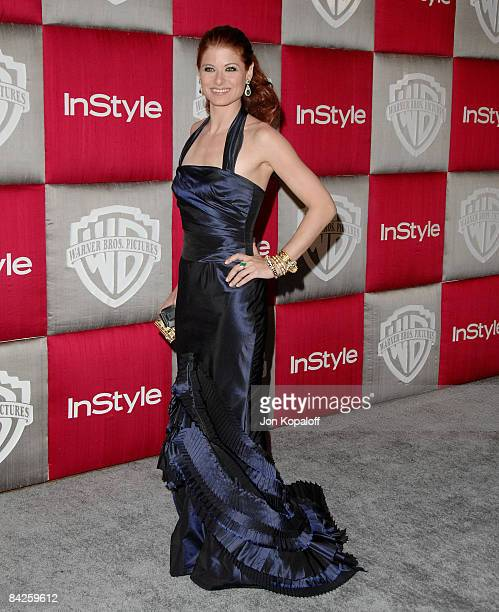 Actress Debra Messing arrives at the 66th Annual Golden Globe Awards InStyle Warner Bros Official After Party at the Oasis Court at The Beverly...