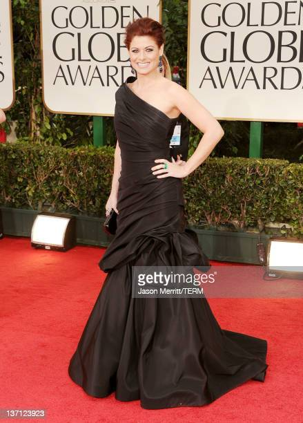 Actress Debra Messing arrives at the 69th Annual Golden Globe Awards held at the Beverly Hilton Hotel on January 15, 2012 in Beverly Hills,...