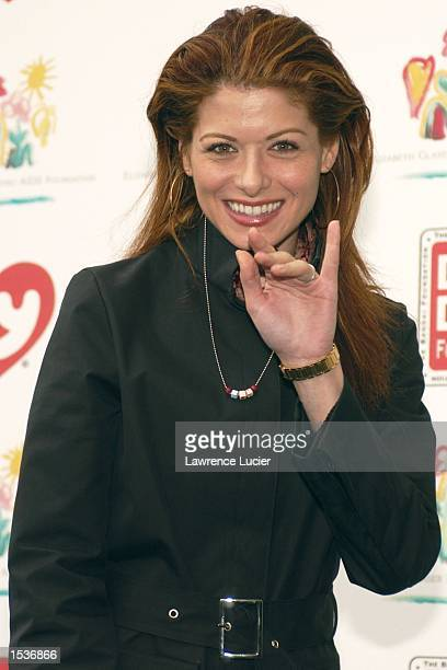 Actress Debra Messing arrives at the 9th Annual Kids for Kids celebrity carnival April 28 2002 in New York City The carnival benefits the Elizabeth...